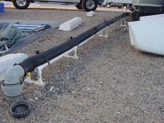 Diy Pvc Sewer Hose Support For 30 Camper Trailer Tent Rv Camping Tips Diy Rv