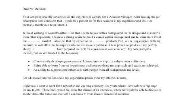 account manager template sample job description resume sales letter