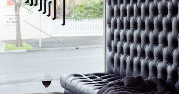 We Would Love A Tall Leather Banquette In Our Kitchen