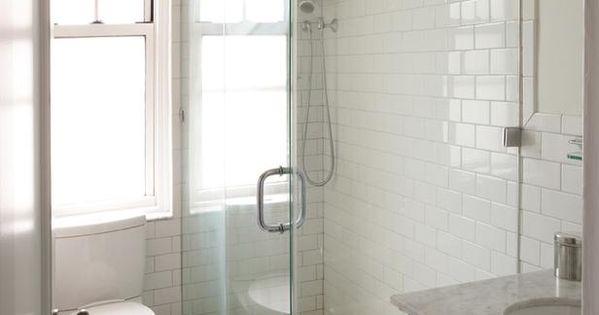 White subway and basket weave tile shine in this classic bathroom on hgtv dream house - Make bathroom shine ...