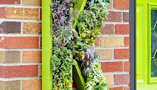 Living Monogram Wreath | Better Homes and Gardens | bhg.com; living, monogram,