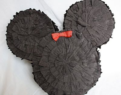 DIY Mickey Piñata using a Diaper box from At Second Street blog