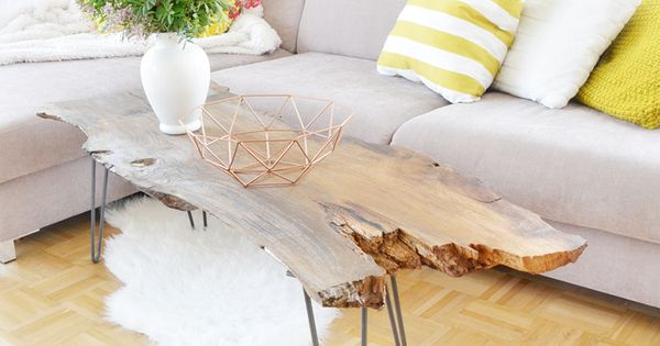 DIY: Couchtisch aus Massivholz selber bauen  Einfache diy, Selber bauen und Couchtische