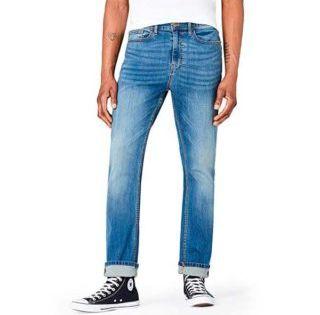 Pantalones De Mezclilla Que Todo Hombre Flaco Y Alto Usa Para Lucir Bien Hombres Flacos Pantalones De Mezclilla Pantalones De Mezclilla Oscura