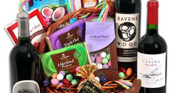 A grown-up Easter basket (or could be for any Seasonal gift basket)