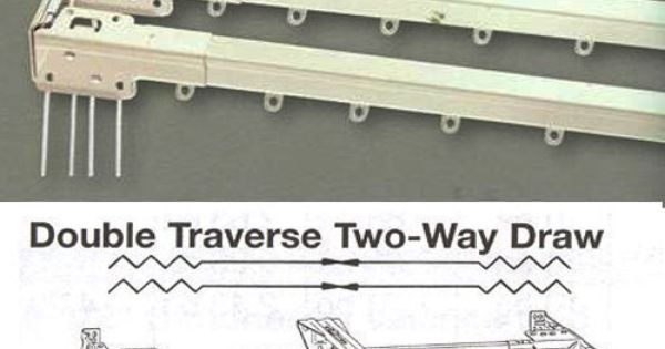 "... from 48"" - 86"". Heavy Duty Double Traverse Rods K… 