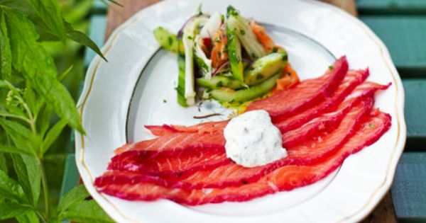 Jamie oliver 39 s gravlax here is the video http www for Canape jamie oliver