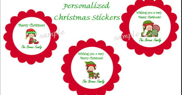 Christmas Stickers 3 Elf Designs Labels Stickers 2 Etsy Christmas Stickers Sticker Labels Vinyl Gifts