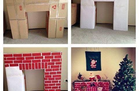 C mo hacer una hermosa chimenea casera de cart n ideas para decoracion home pinterest - Como hacer una chimenea casera ...