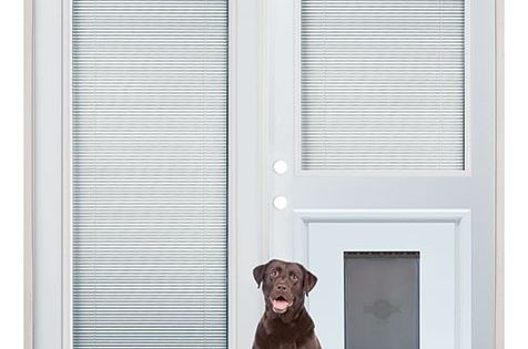Patio French Back Doors With Internal Mini Blinds And Pet