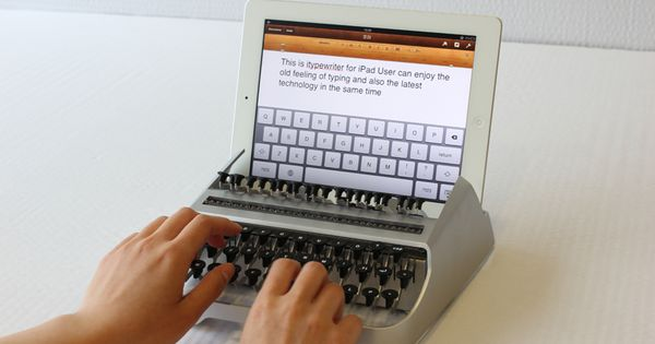"I-TYPEWRITER by AUSTIN YANG Vous voulez rire?"" /Are you kidding ? Curator"