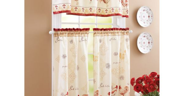 Better Homes And Gardens Rooster Tier Curtain And Valance