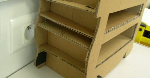 video tuto meuble en carton carton technique pinterest cardboard furniture paper mache. Black Bedroom Furniture Sets. Home Design Ideas