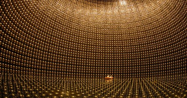 Super Kamiokande Neutrino Detector, Japan. Every second 65 billion neutrinos pass through