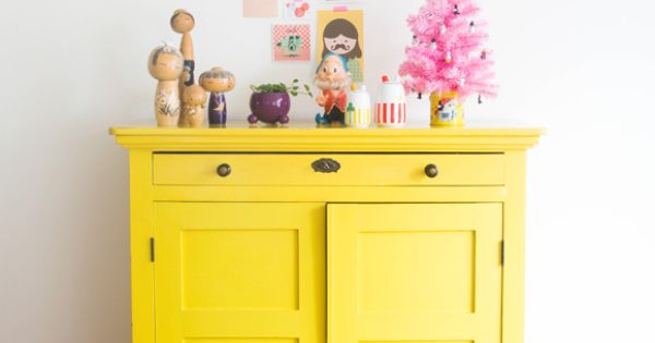 Paint A Small Piece Of Furniture Bright Yellow For An