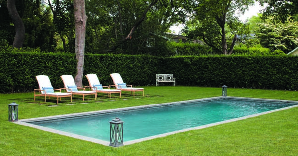 Tour A Gracious Southampton Home Gunite Pool Pools And The O 39 Jays