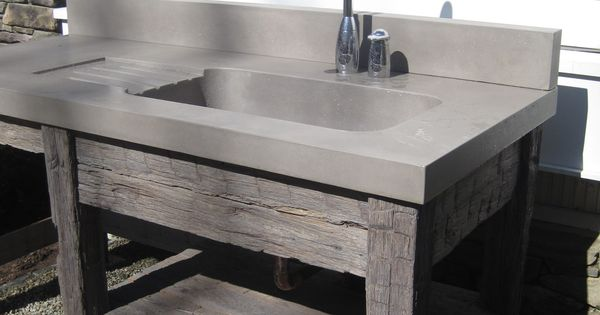 Concrete Laundry Sink Base : wood vanity base and concrete bathroom sink by Trueform concrete ...