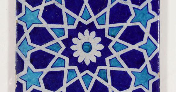 A Multan Glazed Pottery Tile Punjab India Now Pakistan