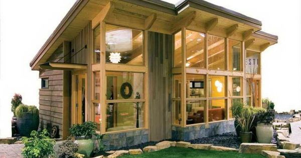Casa peque a de madera y vidrio casas de campo - Casa madera pequena ...