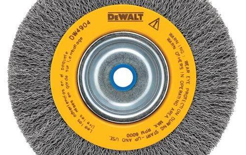 Dewalt Dw4906 8 Inch Crimped Bench Wire Wheel 5 8 Arbor
