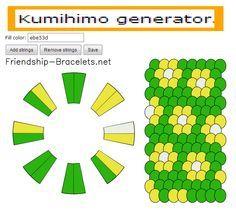 Kumihimo Pattern Generator By Http Friendship Bracelets Net