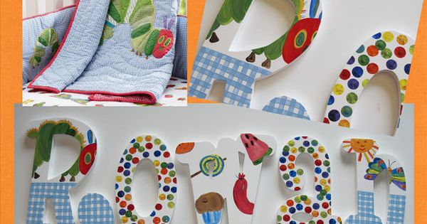 The Very Hungry Caterpillar Hand Painted Custom Wood Wall