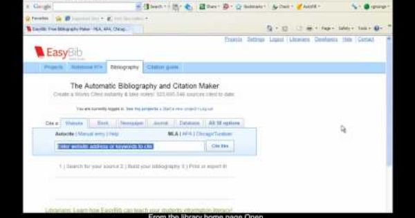 An Example Of Exporting Citation From Ebsco Databases To Easybib Citations Citation Maker Youtube