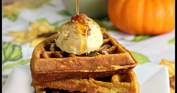 Pumpkin Waffles with Maple Butter by What About Second ...