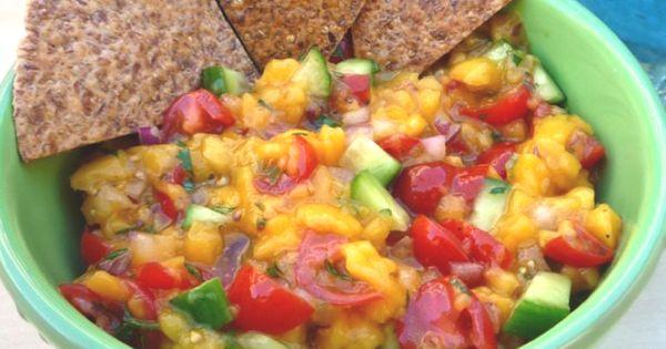 ... salsa = healthy snack | Recipes | Pinterest | Mango Salsa, Salsa and