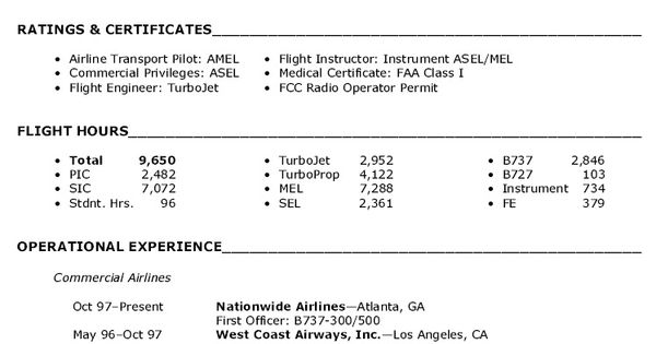 Pilot Entry Level Resume - Http://topresume.info/pilot-entry-level-resume/