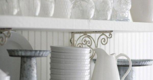 Shelves White Dishes And White Shelves On Pinterest