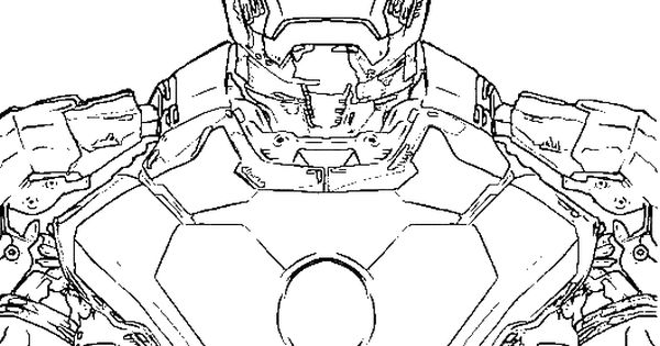 Super Advanced Coloring Pages : The most advanced robot iron man coloring for kids super