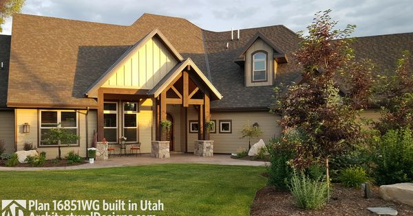 Plan 16851wg rugged craftsman dream home plan house for Craftsman house plans utah