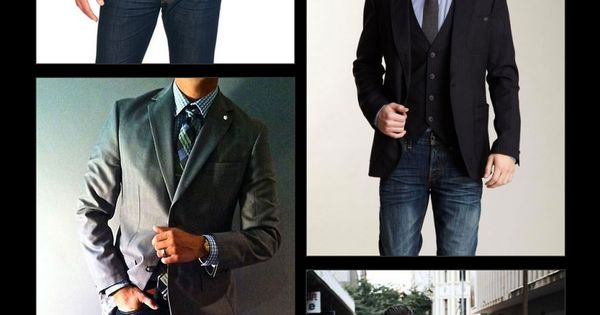Ties are known for being dressy, but a great way to dress it down is by wearing it with jeans. Enjoy our collection of tie   jeans inspiration! | See more about Knit Tie, Jackets and Ties.