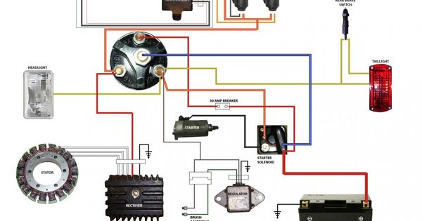 simplified wiring diagram for xs400 cafe motorcycle. Black Bedroom Furniture Sets. Home Design Ideas