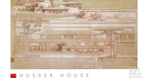 Joseph Husser House Art Print By Frank Lloyd Wright At Art Com