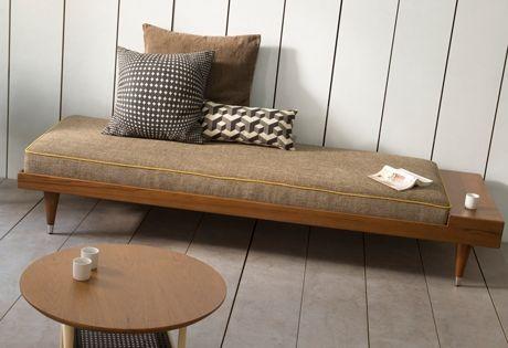 banquette bi gris ann es cinquante conception. Black Bedroom Furniture Sets. Home Design Ideas