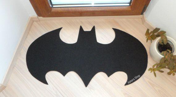 Batman Rug! Custom door mat by Xatara, $40.00
