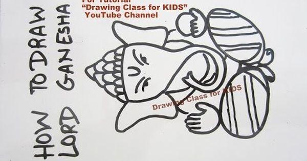 Youtube How To Draw Ganesha Ganpati Drawing With Easy Steps