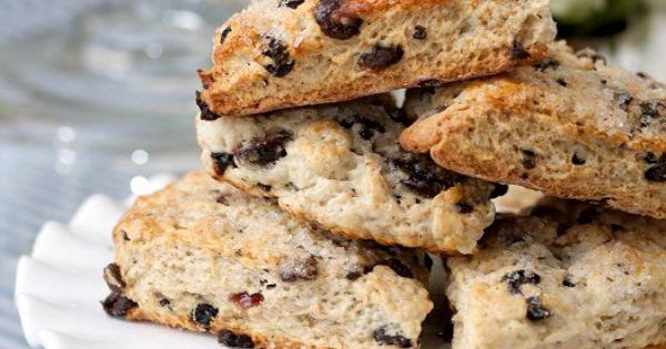 Chocolate blueberry scones