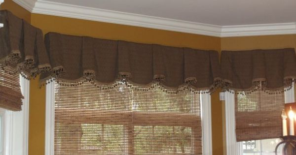 Sheffield Valance Style And Bamboo Shade On Trimmed