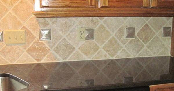 Travertine Tile Backsplash Travertine Backsplash Diamond Pattern Kitchen Backsplash