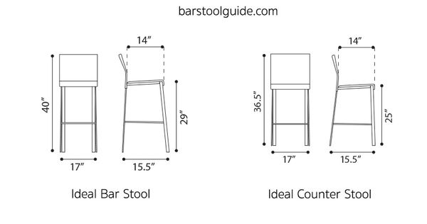 Bar Stool Dimensions Standard Height Seat Width Leg Room Bar Stool Guide Reference Pinterest