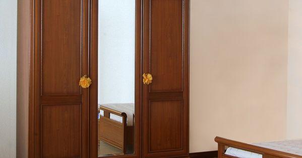 Armoire laurel 3 portes avec miroir d cor merisier prix for Prix miroir au m2