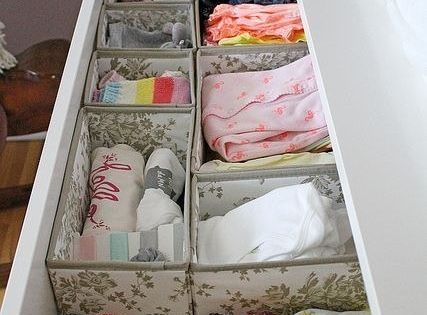 Use SKUBB boxes to organize baby clothes for a nursery. | 37