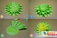 Kerajinan Tangan Dari Kertas Lipat Bunga Kertas Bunga Dari