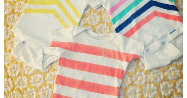 tee-shirt gift - DIY onesies @ DIY Home Crafts