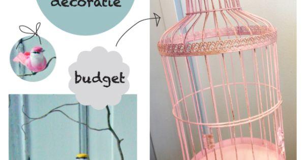 Diy vogelkooi versieren als decoratie voor de baby kinderkamer - Versieren kinderkamer ...