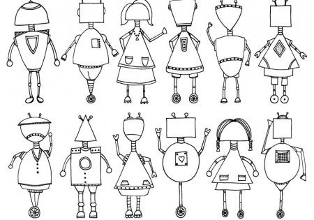 Printable Robot Coloring Page