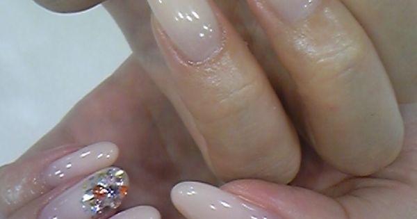 Long neutral nails...